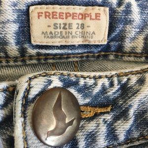 Free People Shorts - Free People acid wash jean shorts